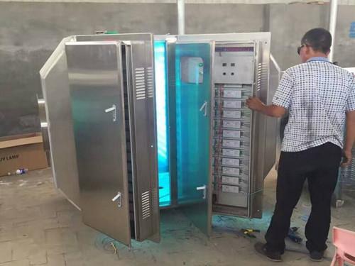 设备占地面积小,自重轻的光氧废气净化器图片