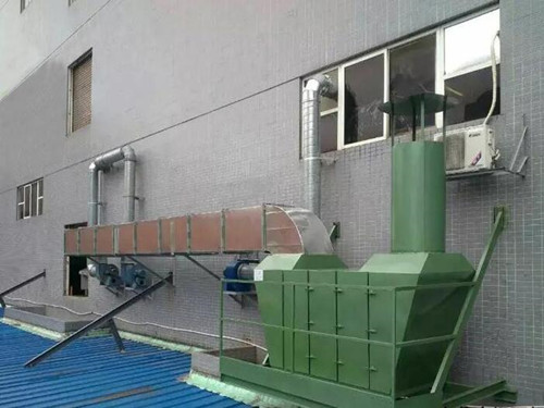 河北德治污水处理厂活性炭吸附塔废气处理工程案例安装图